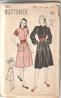 Butterick 3847 cover