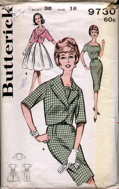 Butterick 9730 60s Green