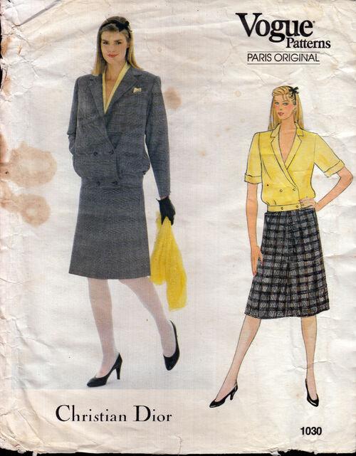 Penelope Rose vintage patterns Chistian Dior