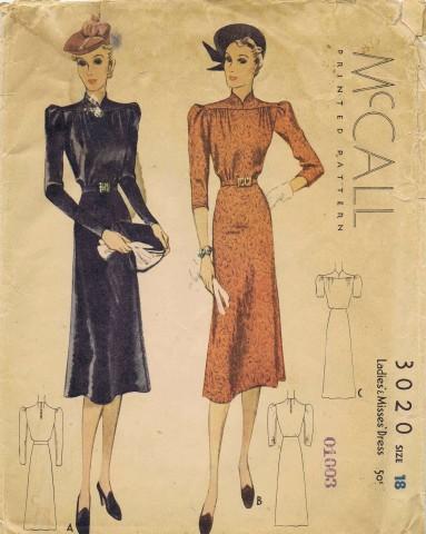 McCall 1938 3020