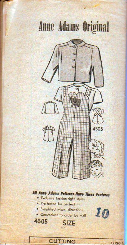 Ann Adams Original 4505 Size 10