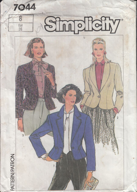 Vintage sewing pattern 1980s fitted jacket Penelope Rose at Artfire