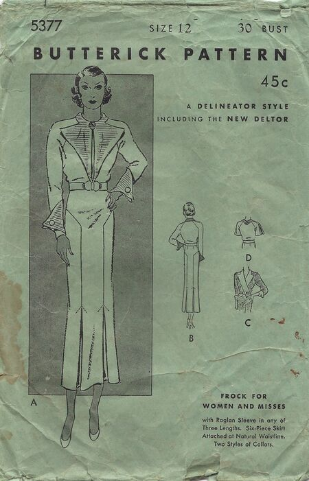 Butterick 5377 1920s or 30s 1