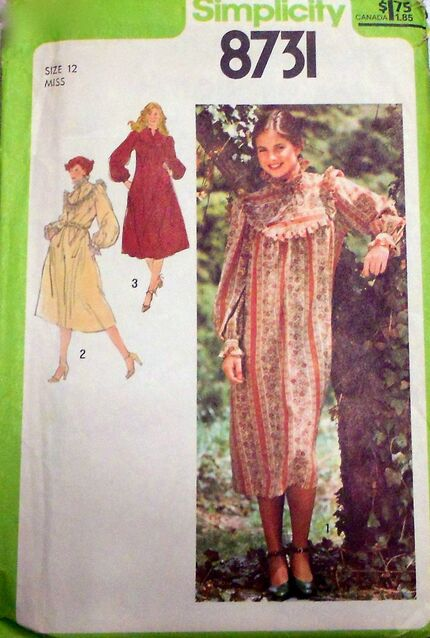Penelope Rose vintage sewing pattern 1970s country dress