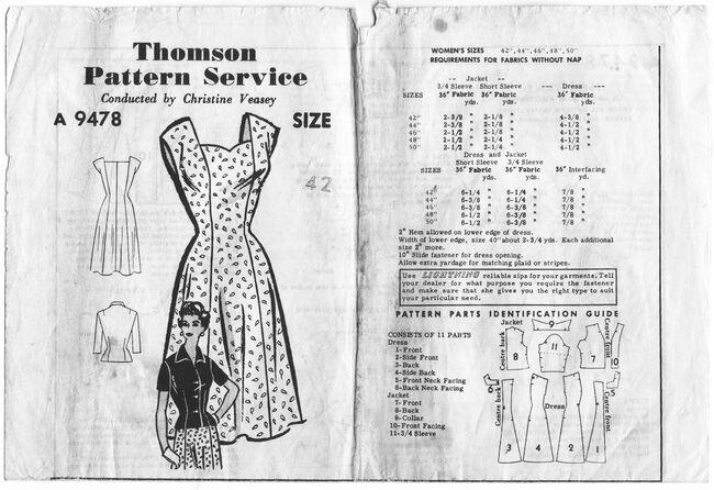 Thomson Pattern Service A9478