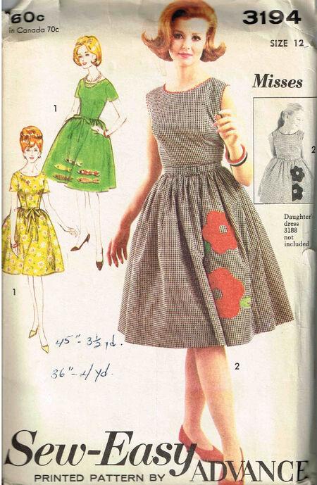 C1960s 3194 Advance dress12