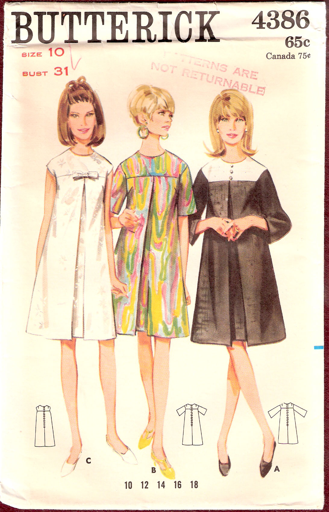 Butterick 4386 Vintage Sewing Patterns Fandom Powered