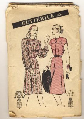 Butterick 3776 cover