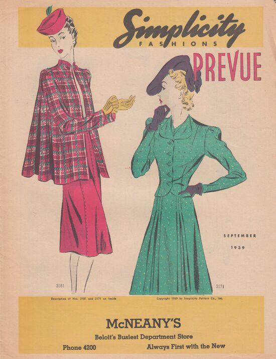 Simplicity Prevue Sept. 1939