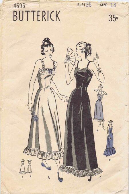 Butterick 1948 4595 A
