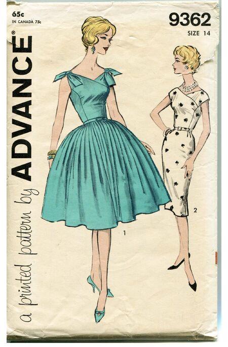 Advance 9362 Original Sewing Pattern at DesignRewindFashions Design Rewind Fashions on Etsy a