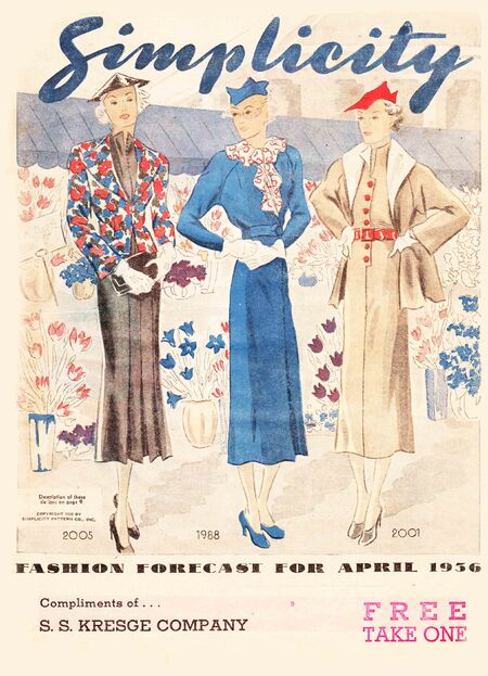 Simplicity Fashion Forecast From April, 1936