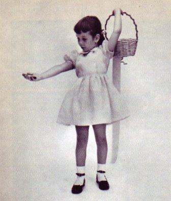 Little girl dress crop