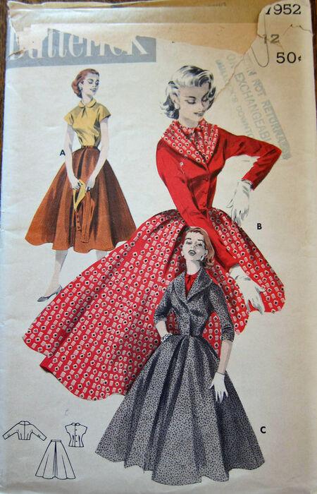 Butterick 7952 1950s