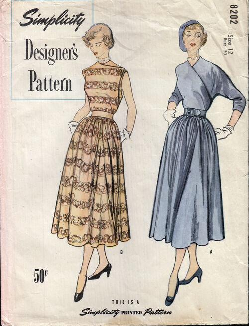 1940s Designer dress pattern Penelope Rose at Artfire