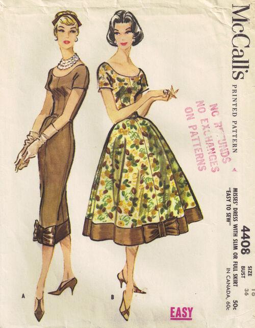 C1957 4408 McCalls dress