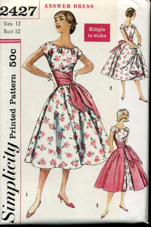 simplicity 2427 a vintage sewing patterns fandom