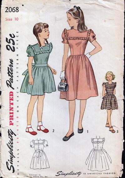 Vintage 1950s girls Dress Pattern from Penelope Rose at Artfire