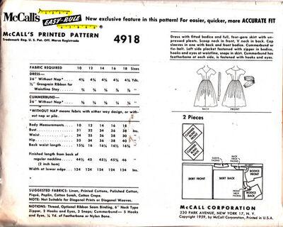 1959 mccalls 4918 dress