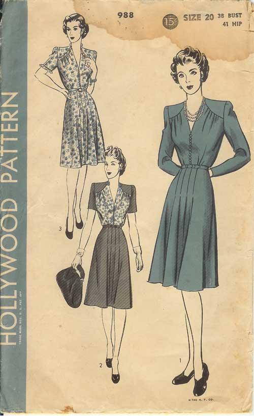 W-H988-1940s-Dress