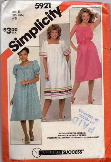 Simplicity 5921