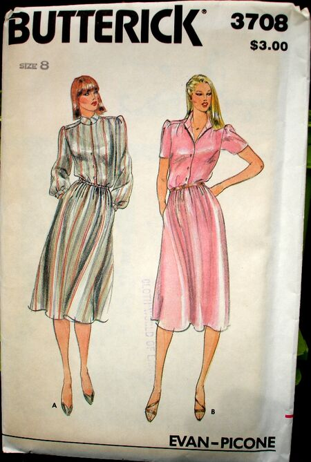 Butterick 3708 A image