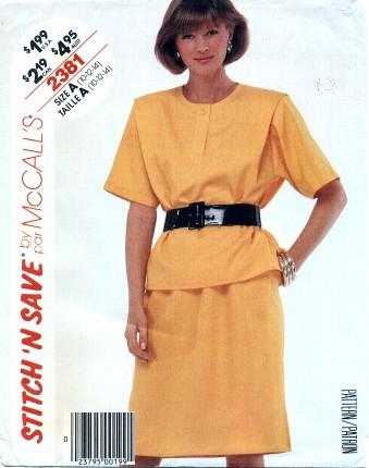 McCalls 1986 2381