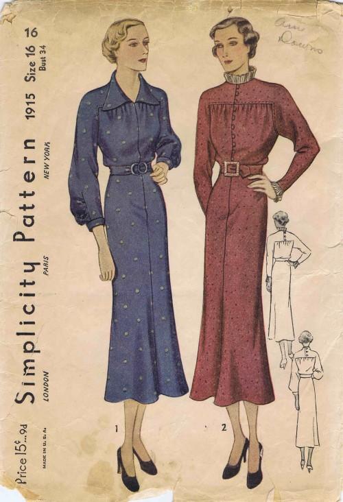 Simplicity 1936 1915