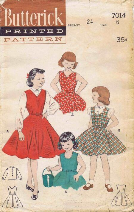 Butterick 1954 7014