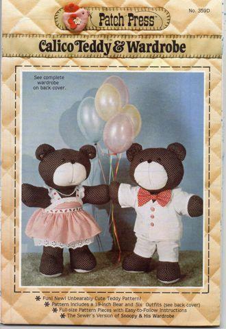 Calico Teddy & Wardrobe 359D