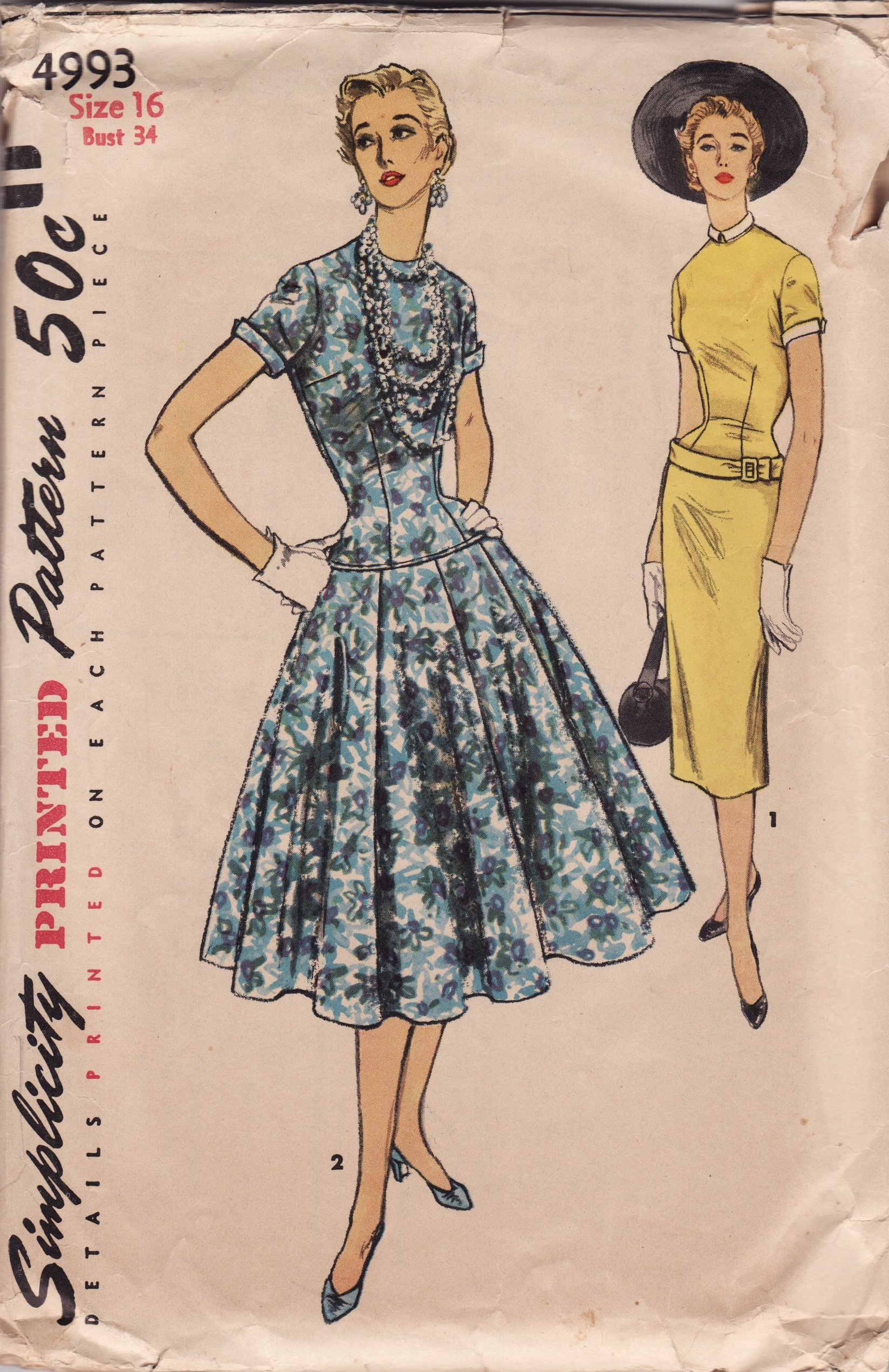 Simplicity 4993 | Vintage Sewing Patterns | Fandom powered by Wikia