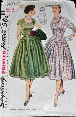 Vop-1560-wp-Simplicity-8477-vintage-pattern-1950s-dresses