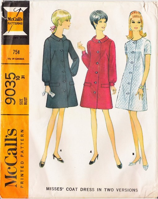 1960's McCall's 9035 front