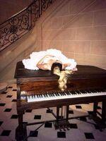 Tini on the piano