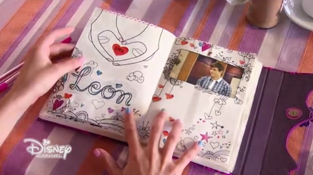 Как сделать в дневник как у виолетты