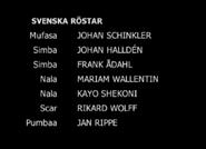 The Lion King Swedish Dub Credits Part 1