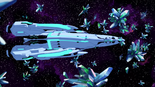 S2E03.76. Castleship flies thru crystals in the Thaldycon system
