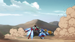 67. Voltron gets out of danger using Lion's thrusters
