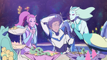 Lance with Mermaid Aliens