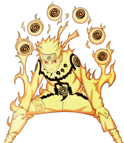 Ns naruto nine tails chakra mode render by xsaiyan-d4n4hzb
