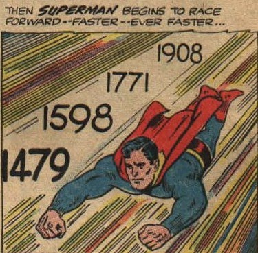 Image result for superman time travel cover