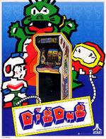 Dig Dug arcade flyer