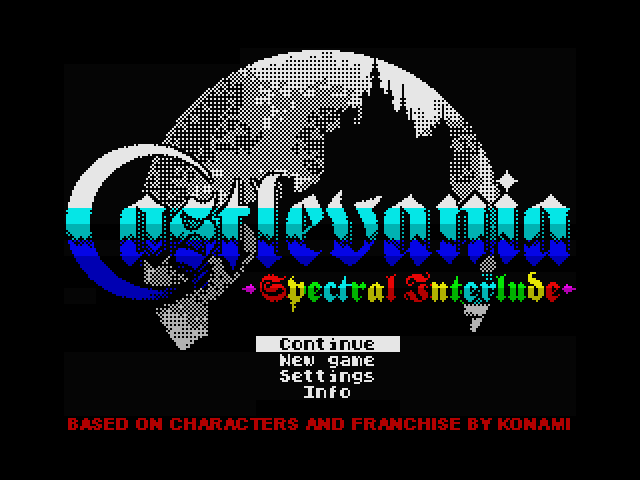 File:Castlevania Spectral Interlude ZX title screen.png