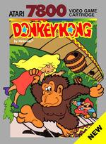 Atari 7800 donkey kong box