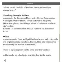 Slouching Towards Bedland computer game screenshot
