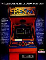 Frenzy arcade flyer