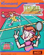 Konamis Tennis MSX cover