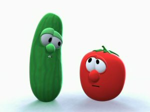 25 Favorite Awesomeness Songs | VeggieTales Fanon Wiki ... Veggie Tales Larry The Cucumber And Bob The Tomato