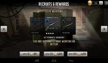 Weapon rewards