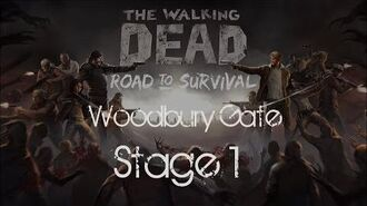The Walking Dead Road to Survival Woodbury Gates Stage 1